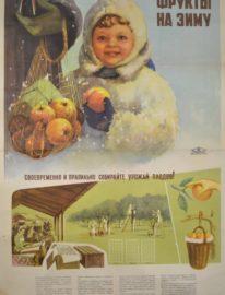 №21 «Фрукты на зиму» художник С.Лапаев 88х60 трж. 15 000 Коопторгреклама центрсоюза