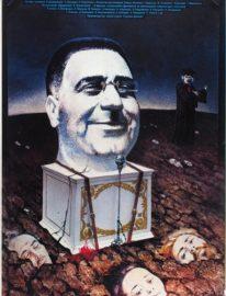 №59 Рекламный плакат художественного фильма «Покаяние» / худ. А. Махов. М.: «Рекламфильм», 1987. 86 x 54,5 см.