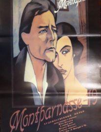 Рекламный плакат фильма «Монпарнас-19» 85х55 Художник О.Васильев 1988г