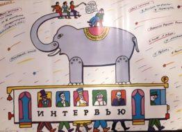 Рекламный плакат фильма «Интервью» 60х103 Художник И Майстровский 1989г