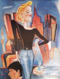 Рекламный плакат фильма «Деловая женщина» Художник Н.Вицина 90х55, 1991г